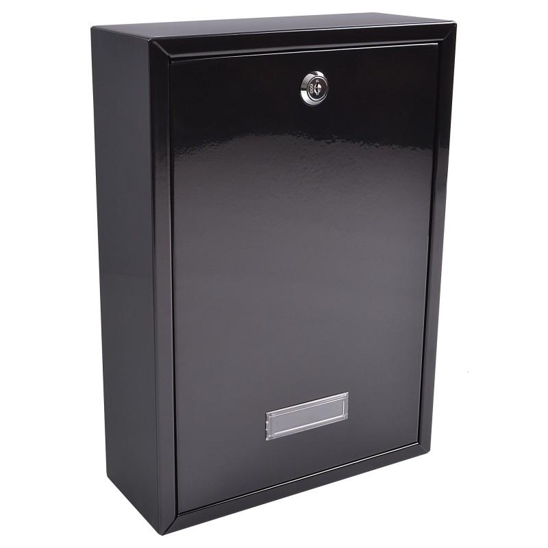 Black BURG-WÄCHTER Forth Rear Access Postbox