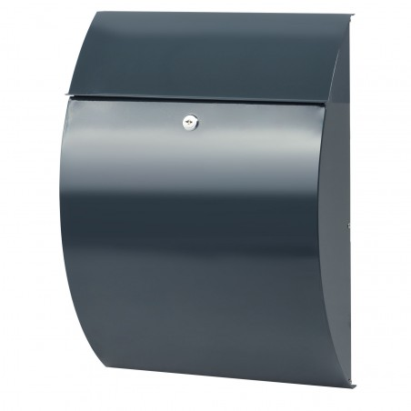 Anthracite grey BURG-WÄCHTER Rivera Wall Mounted Postbox
