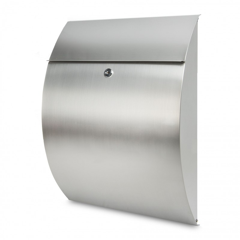 BURG-WÄCHTER Rivera Stainless Steel Wall Mounted Postbox