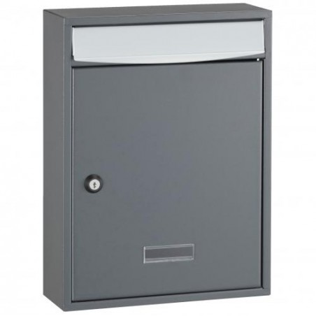 Graphite Grey Decayeux Wall Mounted Bologne Postbox