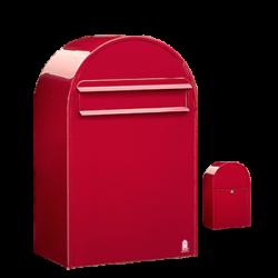 Red Bobi Classic B Large Capacity Postbox