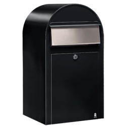 Black Bobi Grande Large Capacity Postbox