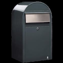 Grey Bobi Grande Large Capacity Postbox