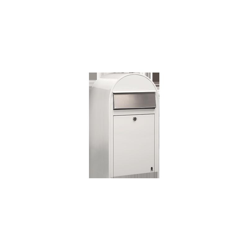 White Bobi Grande Large Capacity Postbox