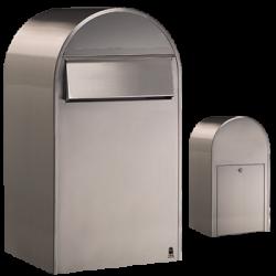 Bobi Grande B Stainless Steel Large Capacity Postbox