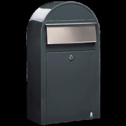 Grey Bobi Grande S Large Capacity Postbox