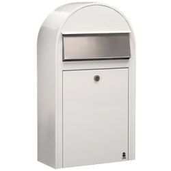 White Bobi Grande S Large Capacity Postbox