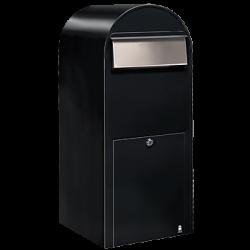 Black Bobi Jumbo Extra Large Capacity Postbox