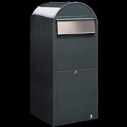 Grey Bobi Jumbo Extra Large Capacity Postbox