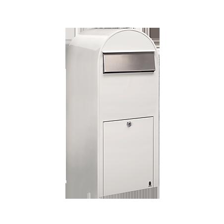 White Bobi Jumbo Extra Large Capacity Postbox