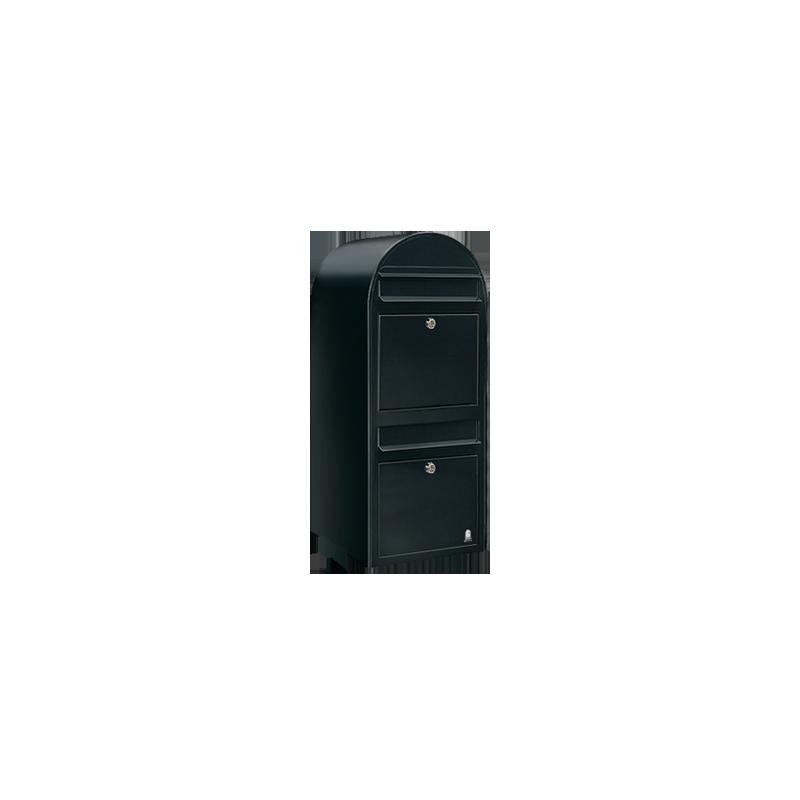 Black Bobi Duo Extra Large Capacity Postbox