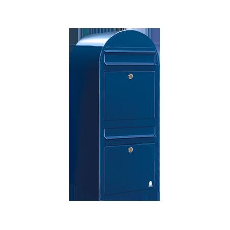 Blue Bobi Duo Extra Large Capacity Postbox