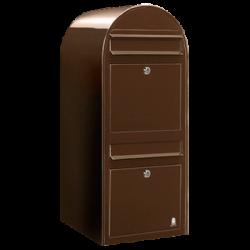 Brown Bobi Duo Extra Large Capacity Postbox