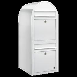 White Bobi Duo Extra Large Capacity Postbox