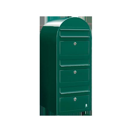 Green Bobi Trio Extra Large Capacity Postbox