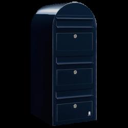 Dark Blue Bobi Trio Extra Large Capacity Postbox