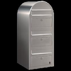 Bobi Trio Stainless Steel Extra Large Capacity Postbox