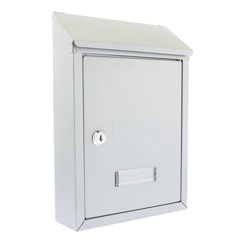 Silver BURG-WÄCHTER Avon Wall Mounted Postbox